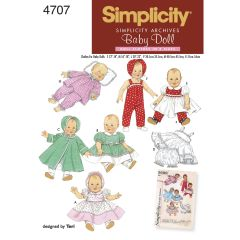 Simplicity Pattern 4707 Doll Clothes