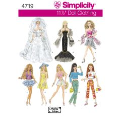Simplicity Pattern 4719 Doll Clothes