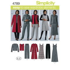 Simplicity Pattern 4789 Women`s & Plus Size Smart and Casual Wear