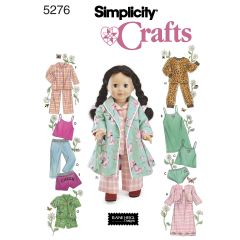Simplicity Pattern 5276 Doll Clothes