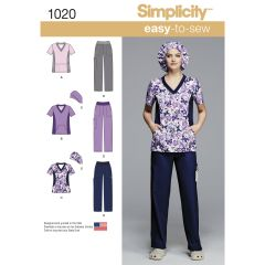 Simplicity Pattern 1020 Women`s and Plus Size Scrubs