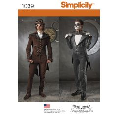 Simplicity Pattern 1039 Men`s Cosplay Costumes