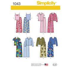 Simplicity Pattern 1043 Child`s, Girls` and Boys` Separates