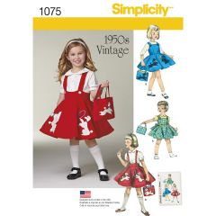 Simplicity Pattern 1075 Child`s Jumper, Skirt and Bag