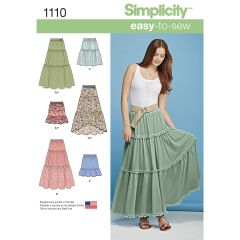 Simplicity Pattern 1110 Women`s Tiered Skirt with Length Variations