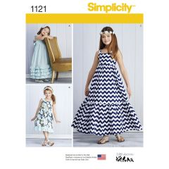 Simplicity Pattern 1121 Child`s and Girls` Pullover Dresses