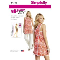 Simplicity Pattern 1133 Women`s Super Jiffy Tunic and Trousers