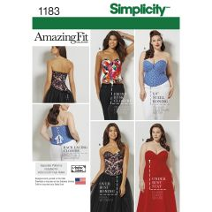 Simplicity Pattern 1183 Women`s and Plus Size Corsets