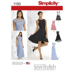 Simplicity Pattern 1195 Women`s and Petite Special Occasion Dress