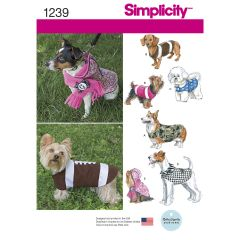 Simplicity Pattern 1239 Dog Coats in Three Sizes