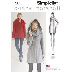 Simplicity Pattern 1254 Women`s Leanne Marshall Easy Lined Coat or Jacket