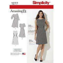 Simplicity Pattern 1277 Women`s and Plus Amazing Fit Dress