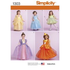 Simplicity Pattern 1303 Toddlers` and Child`s Costumes