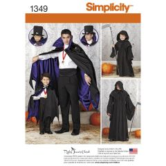 Simplicity Pattern 1349 Boys` and Men`s Capes