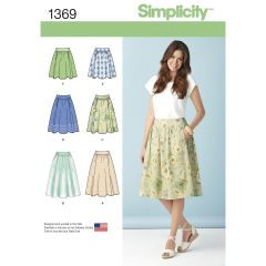 Simplicity Pattern 1369 Women`s Skirts in Three Lengths