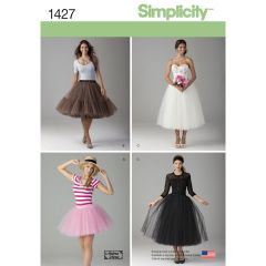 Simplicity Pattern 1427 Women`s Tulle Skirt in Three Lengths