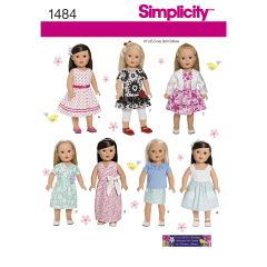 "Simplicity Pattern 1484 18"" Doll Clothes"