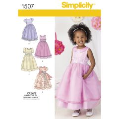 Simplicity Pattern 1507 Toddlers` and Child`s Special Occasion Dress