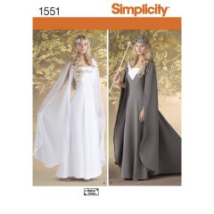 Simplicity Pattern 1551 Women`s Costumes