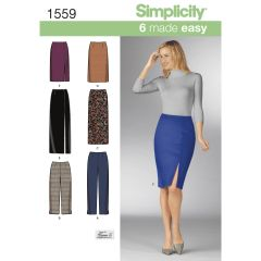 Simplicity Pattern 1559 Women`s Skirts and Trousers