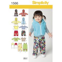 Simplicity Pattern 1566 Babies` Separates