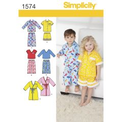 Simplicity Pattern 1574 Toddlers` Loungewear