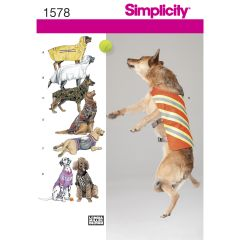 Simplicity Pattern 1578 Large Size Dog Clothes