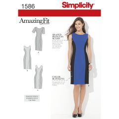 Simplicity Pattern 1586 Women`s and Plus Size Amazing Fit Dress