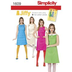 Simplicity Pattern 1609 Women`s Jiffy 1960`s Vintage Dress