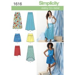 Simplicity Pattern 1616 Women`s Knit or Woven Skirts