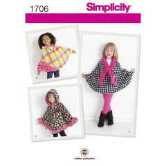 Simplicity Pattern 1706 Child`s Fleece Capes