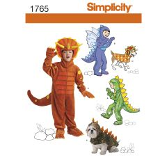 Simplicity Pattern 1765 Child`s and Dog Costumes
