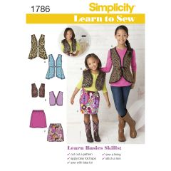 Simplicity Pattern 1786 Learn to Sew Child`s and Girls` Sportswear
