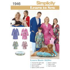 Simplicity Pattern 1946 Learn to Sew Child`s Teen`s & Adults` Robe