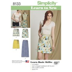 Simplicity Pattern 8133 Women`s Learn to Sew Wrap Skirts