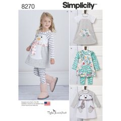 Simplicity Pattern 8270 Toddlers` Knit Sportswear from Ruby Jean`s Closet