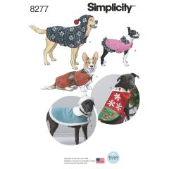 Simplicity Pattern 8277 Fleece Dog Coats and Hats in Three Sizes