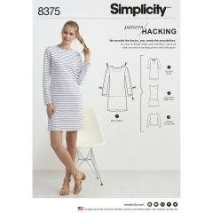 Simplicity Pattern 8375 Women's Knit Dress or Top with Multiple Pieces for Design Hacking