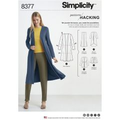 Simplicity Pattern 8377 Women's Knit Cardigan with Variations and Multiple Pieces for Design Hacking
