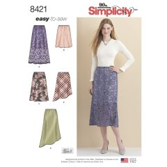 Simplicity Pattern 8421 Women`s Skirts in Three lengths with Hem Variations