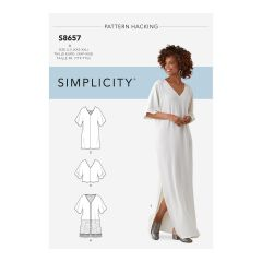 Simplicity Pattern S8657 Women's Caftan with Options for Design Hacking