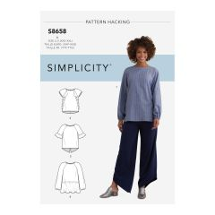 Simplicity Pattern S8658 Women's Top with Options for Design Hacking