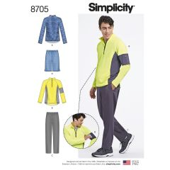 Simplicity Pattern 8705 Men`s Trousers or Shorts and Knit Pullover Top