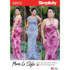 Simplicity Pattern S8915 Misses` Knit Maxi Dresses by Mimi G Style