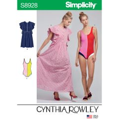 Simplicity Pattern S8928 Misses` Swimsuit & Caftans by Cynthia Rowley