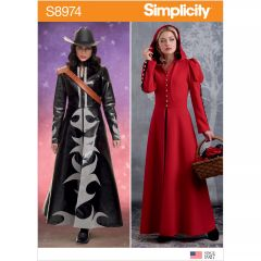 Simplicity Pattern S8974 Misses` Cosplay Coat Costume