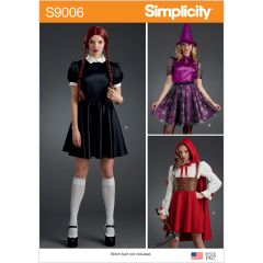 Simplicity Pattern S9006 Misses` Halloween Costumes