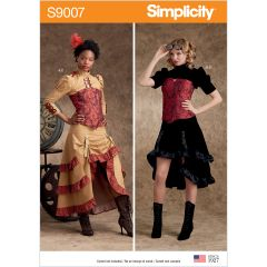 Simplicity Pattern S9007 Misses` Steampunk Costumes