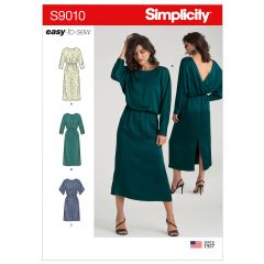 Simplicity Pattern S9010 Misses` Dresses with Length Variation