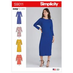 Simplicity Pattern S9011 Misses` Knit Pullover Dresses